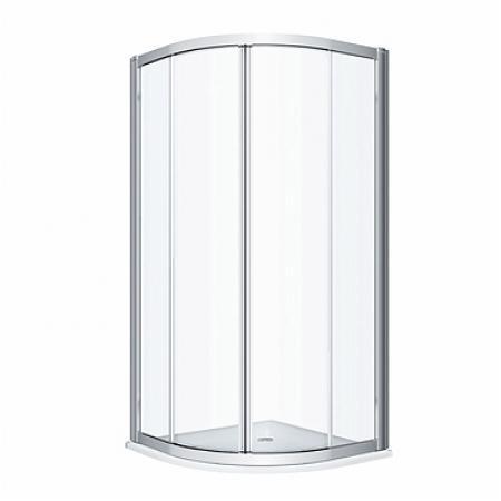 Koło Geo 90 Kabina prysznicowa półokrągła 90x90x190 cm profile srebrny połysk szkło przezroczyste Reflex 560.121.00.3