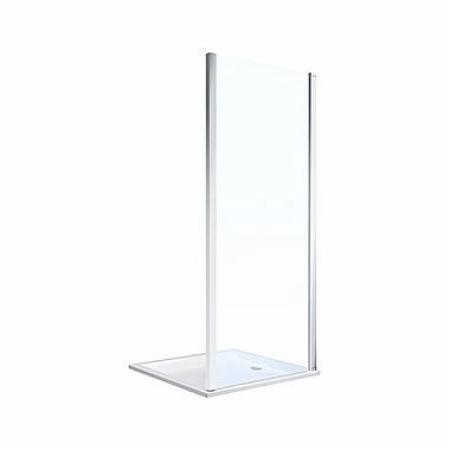Koło Geo 90 Ścianka prysznicowa 90x190 cm profile srebrny połysk szkło przezroczyste Reflex 560.127.00.3