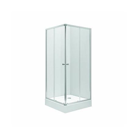 Koło First Kabina prysznicowa prostokątna 80x80x190 cm, profile srebrne szkło przezroczyste ZKDK80222003