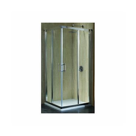 Koło Geo 6 Kabina prysznicowa prostokątna 90x90x190 cm, profile srebrne szkło przezroczyste GKDK90222003A+GKDK90222003B