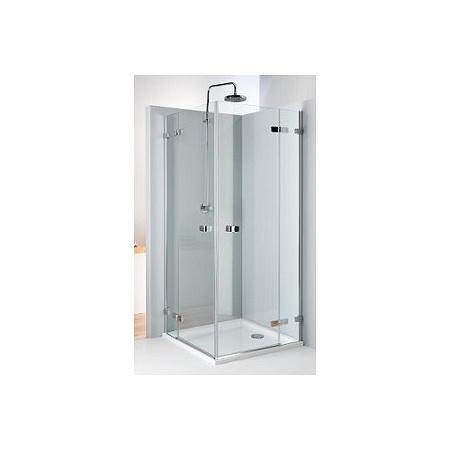 Koło Next Kabina prysznicowa prostokątna 80x80x195 cm z powłoką Reflex, profile srebrne szkło przezroczyste HKDF80222003
