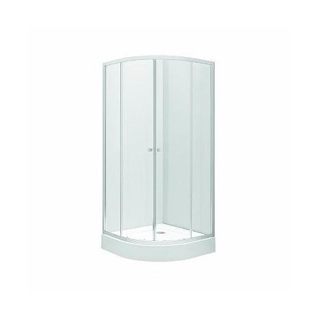 Koło First Kabina prysznicowa półokrągła 80x80x190 cm, profile srebrne szkło przezroczyste ZKPG80222003