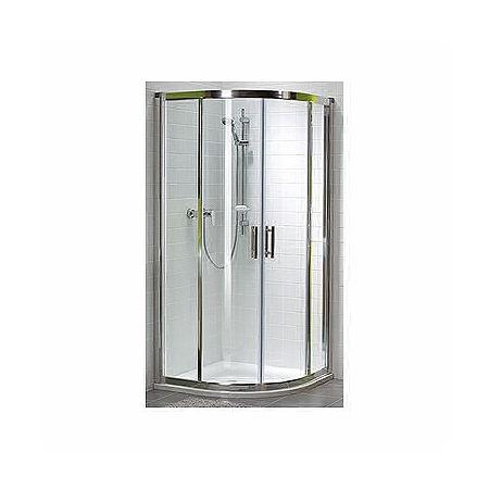Koło Geo 6 Easy Kabina prysznicowa półokrągła 80x80x190 cm, profile srebrne szkło przezroczyste GKPG80205003+GKPG80222003B