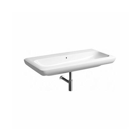 Koło Life Umywalka wisząca lub nablatowa 100x48x16 cm bez otworu z powłoką Refleks, biała M21010900