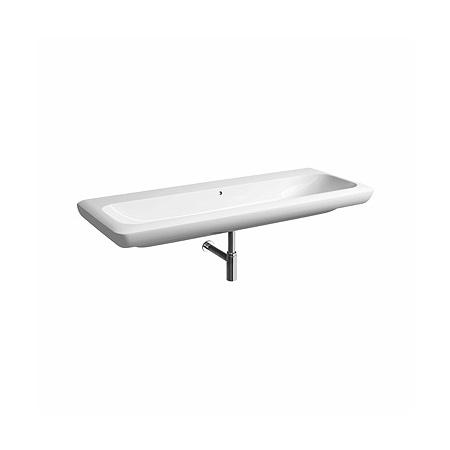 Koło Life Umywalka wisząca lub nablatowa 130x48x16 cm bez otworu z powłoką Refleks, biała M21030900