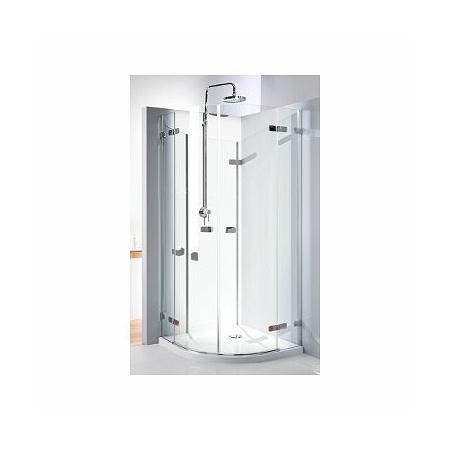 Koło Next Kabina prysznicowa półokrągła 80x80x195 cm z powłoką Reflex, profile srebrne szkło przezroczyste HKPF80222003