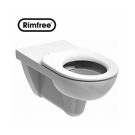 Koło Nova Pro Bez Barier Toaleta WC podwieszana 35x70x34 cm dla osób niepełnosprawnych Rimfree, biała M33520