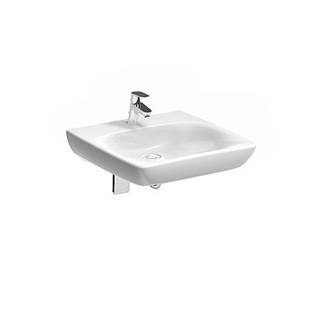 Koło Nova Pro Bez Barier Umywalka wisząca 55x55x10 cm dla osób niepełnosprawnych bez przelewu, biała M38455000