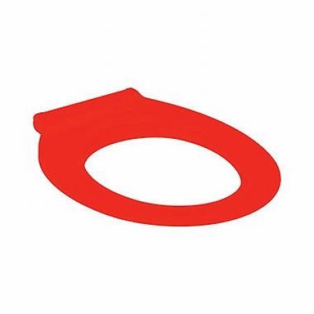 Koło Nova Pro Premium Bez Barier Siedzisko WC antybakteryjne dla niepełnosprawnych Duroplast czerwone M30163000