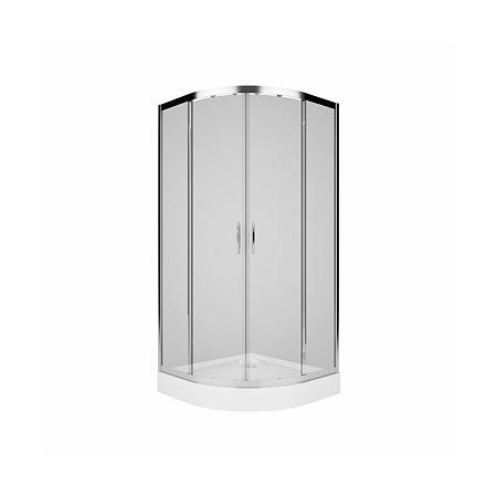 Koło Rekord Kabina prysznicowa półokrągła 80x80x185 cm, profile srebrne szkło przezroczyste PKPG80222003