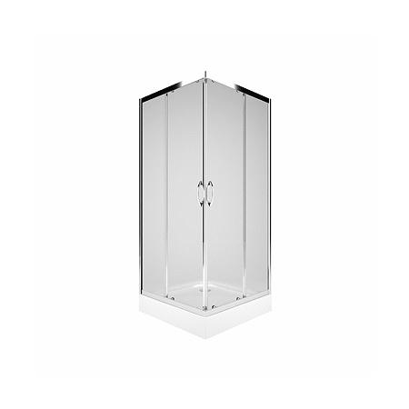 Koło Rekord Kabina prysznicowa prostokątna 80x80x185 cm, profile srebrne szkło przezroczyste PKDK80222003