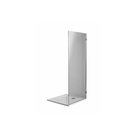 Koło Next Ścianka prysznicowa stała 100x195 cm profile srebrne szkło przezroczyste z powłoką Reflex HSKX10222003