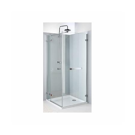 Koło Next Ścianka prysznicowa stała 120x195 cm profile srebrne szkło przezroczyste z powłoką Reflex HSKX12222R03