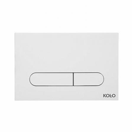 Koło Slim Przycisk uruchamiający do WC, biały 94183001