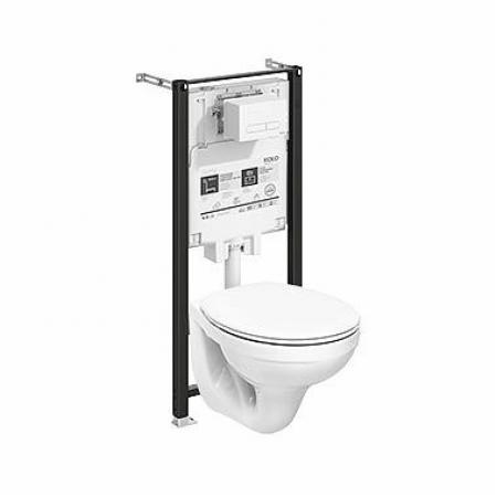 Koło Slim2 Idol Zestaw Toaleta WC podwieszana 51x36 cm ze stelażem biała 99641000