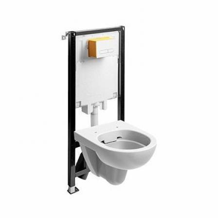 Koło Slim2 Nova Pro Zestaw Toaleta WC podwieszana 53x35 cm Rimfree bez kołnierza ze stelażem biała 99644000