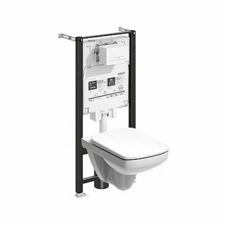 Koło Slim2 Nova Pro Zestaw Toaleta WC podwieszana 53x35 cm Rimfree bez kołnierza ze stelażem biała 99646000