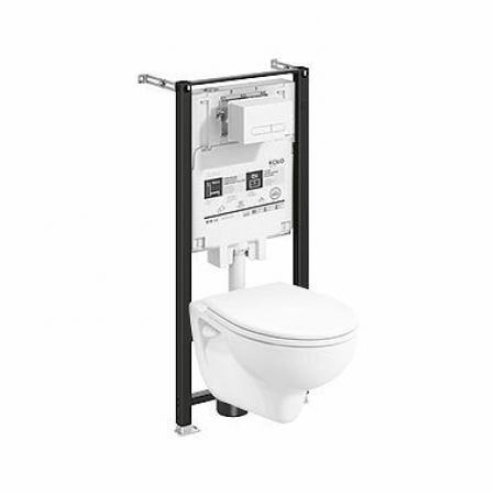 Koło Slim2 Rekord Zestaw Toaleta WC podwieszana 52x36 cm ze stelażem biała 99642000