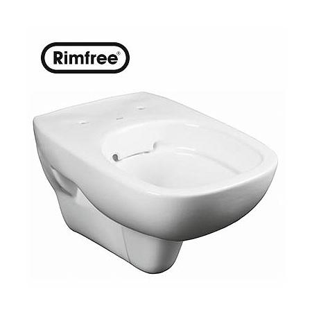 Koło Style Toaleta WC podwieszana 35,6x51x33,5 cm lejowa Rimfree z powłoką Refleks, biała L23120900