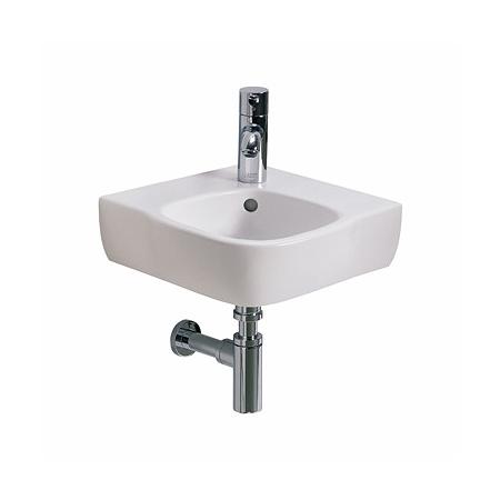 Koło Style Umywalka narożna 37x50 cm z otworem na baterię i powłoką Refleks, biała L21750900