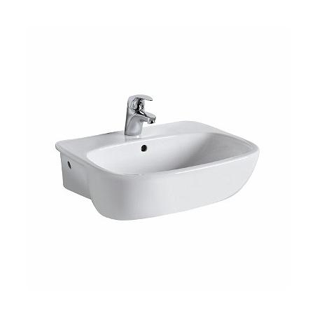 Koło Style Umywalka półblatowa 55x44,5x18,5 cm z otworem na baterię i powłoką Refleks, biała L21855900