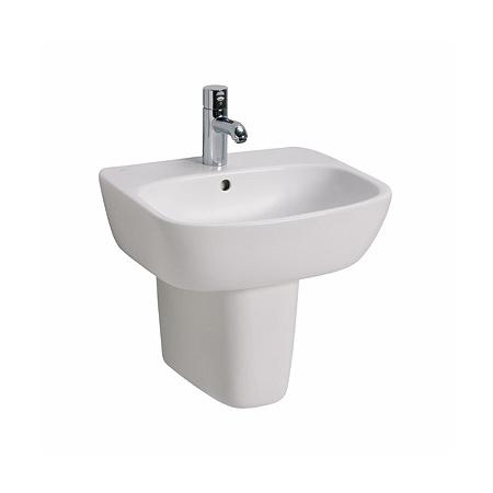 Koło Style Umywalka wisząca 55x45x15,5 cm z otworem na baterię i powłoką Refleks, biała L21955900