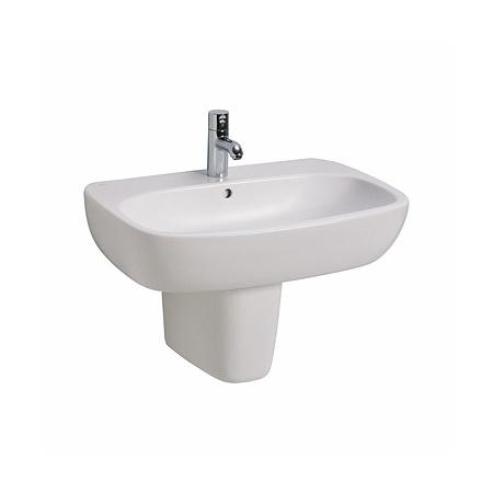 Koło Style Umywalka wisząca 60x46x15,5 cm z otworem na baterię i powłoką Refleks, biała L21960900