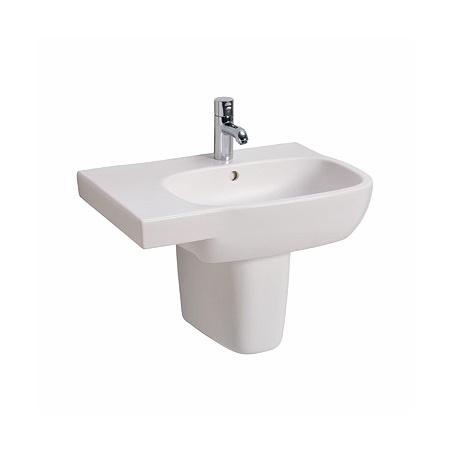 Koło Style Umywalka wisząca 65x46 cm z blatem po lewej stronie i powłoką Refleks, biała L21766900