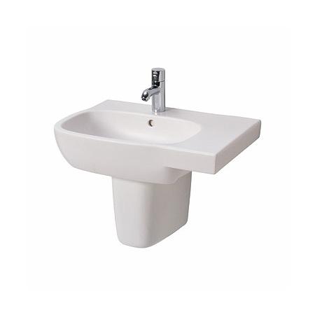 Koło Style Umywalka wisząca 65x46 cm z blatem po prawej stronie i powłoką Refleks, biała L21765900