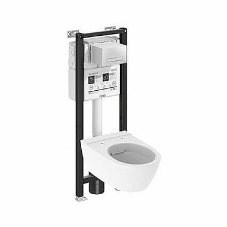 Koło Technic GT Modo Pure Oval Toaleta WC podwieszana z deską wolnoopadającą 53x35,5 cm Rimfree bez kołnierza ze stelażem biała 99663000