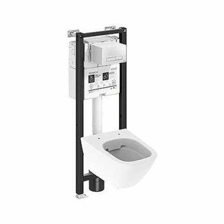 Koło Technic GT Modo Pure Toaleta WC podwieszana krótka 49x35 cm Rimfree bez kołnierza ze stelażem biała z powloką Reflex 99662900