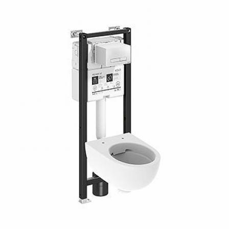 Koło Technic GT Nova Pro Premium Toaleta WC podwieszana 55x35,5 cm Rimfree bez kołnierza ze stelażem biała 99667000