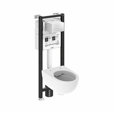 Koło Technic GT Nova Pro Premium Toaleta WC podwieszana krótka 49x35,5 cm Rimfree bez kołnierza ze stelażem biała 99665000