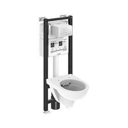 Koło Technic GT Nova Pro Toaleta WC podwieszana krótka 48x35,5 cm Rimfree bez kołnierza ze stelażem biała 99668000