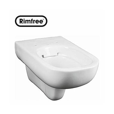 Koło Traffic Toaleta WC podwieszana 35x54x35,5 cm lejowa Rimfree, biała L93120