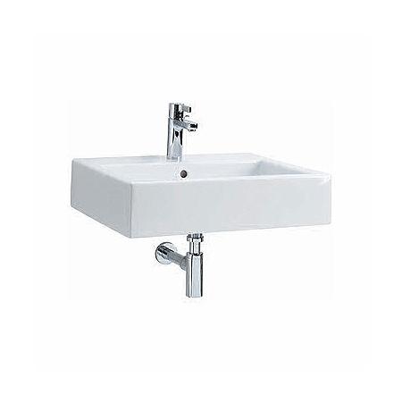 Koło Twins Umywalka wisząca lub nablatowa 50x46x14 cm z otworem na baterię i powłoką Refleks, biała L51150900