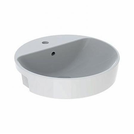 Koło Variform Umywalka półblatowa 50 cm z przelewem z otworem na baterię biała 500.782.01.6