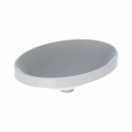 Koło Variform Umywalka wpuszczana w blat 55x40 cm bez przelewu bez otworu na baterię biała 500.718.01.6