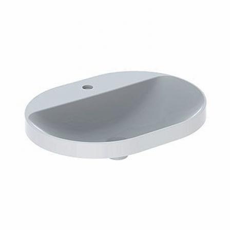 Koło Variform Umywalka wpuszczana w blat 60x45 cm bez przelewu z otworem na baterię biała 500.734.01.6