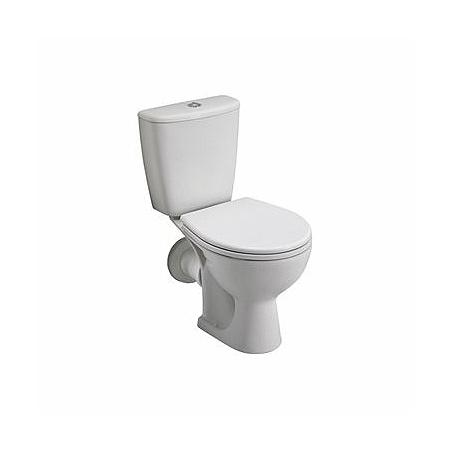 Koło Rekord Toaleta WC kompaktowa 36,6x62,5x76,4 cm odpływ poziomy, biała K99000