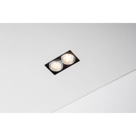Labra Tweet 50.2 GU10 Lampa wpuszczana GU10 2x QPAR16 LED, aluminium 4-1141A