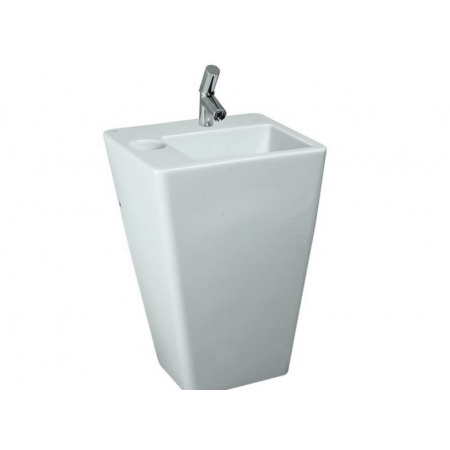 Laufen Alessi Dot Umywalka przyścienna 59x49 cm bez otworu na baterię biała H8119024001091