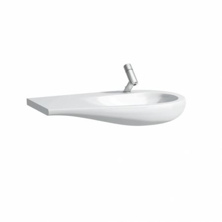 Laufen Il Bagno Alessi One Umywalka wisząca 90x50x16,5 cm bez otworu na baterię, biała H8149764001091