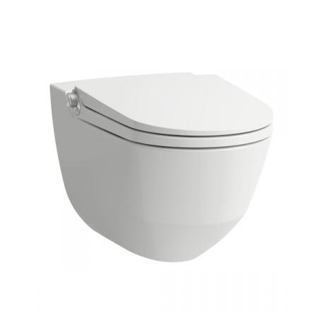 Laufen Cleanet Riva Toaleta WC podwieszana 60x39,5 cm myjąca Rimless bez kołnierza z deską sedesową wolnoopadającą, biała LCC H8206914000001