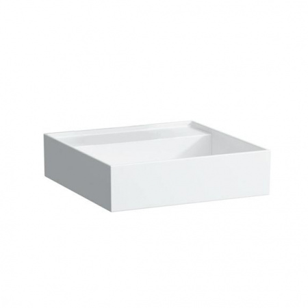 Laufen Kartell Umywalka wisząca 46x46x12 cm bez systemu przelewowego i otworu na baterię, biała H8153310001121