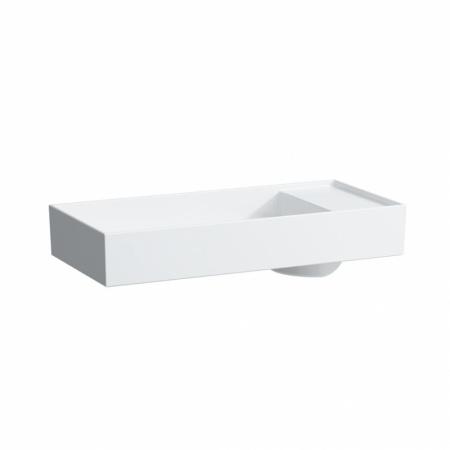 Laufen Kartell Umywalka nablatowa 75x35x12 cm bez systemu przelewowego 1 otwór na baterię i ze szkliwieniem LCC, biała H8123324001111