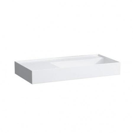 Laufen Kartell Umywalka wisząca 90x46x12 cm bez systemu przelewowego i otworu na baterię, biała H8103390001121
