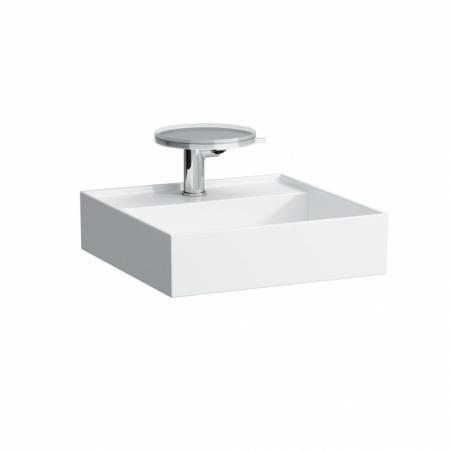 Laufen Kartell Umywalka wisząca 46x46x12 cm z systemem przelewowym 1 otwór na baterię, biała H8153310001041