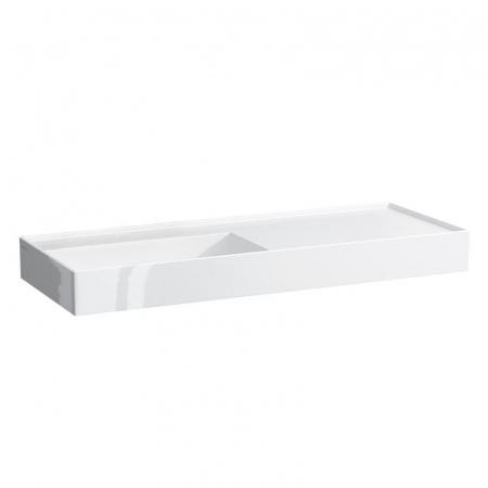 Laufen Kartell Umywalka wisząca 120x46x12 cm bez systemu przelewowego i otworu na baterię, biała H8133320001121