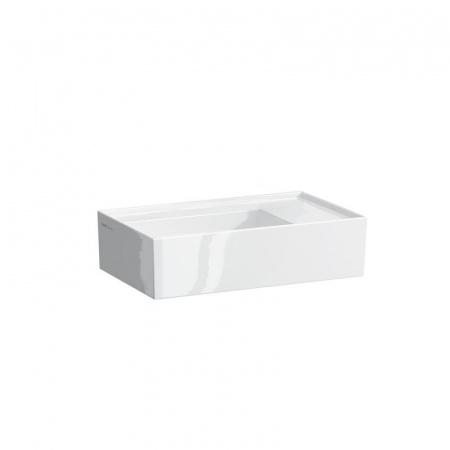 Laufen Kartell Umywalka wisząca 46x28x12 cm bez otworu na baterię i ze szkliwieniem LCC, biała H8153344001121